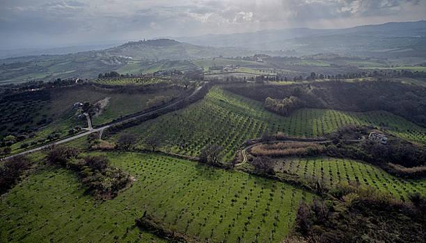 Marche Landscape - Camerano Italy, Aerial View by David Daniel