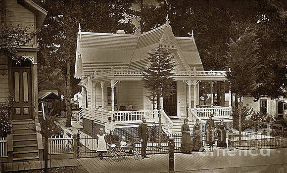 Marcus D. Hyde residence 148 Forest Ave.  Pacific Grove 1898 by California Views Mr Pat Hathaway Archives