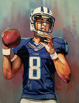 Marcus Mariota Rookie Year - Tennessee Titans by Michael Pattison