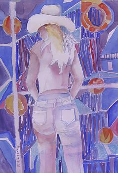 Mardi Gras Cowgirl by Linda Rupard
