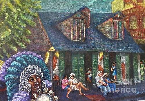 Mardi Gras Indians at Blacksmith Shop by Beverly Boulet