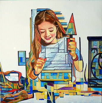 Margaux peint by Danielle Arnal
