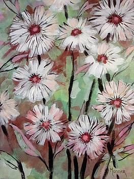 Marguerites Abstract by Cathy MONNIER