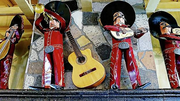 Mariachis On Stage by Joseph Hendrix