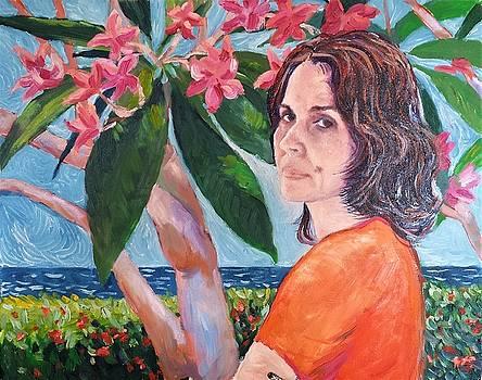 Mariela with Frangipanis by Herschel Pollard