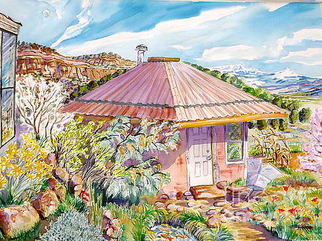 Marie's Straw bale house by Annie Gibbons