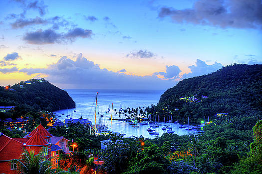 Marigot Bay Sunset Saint Lucia Caribbean by Toby McGuire