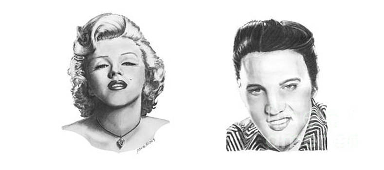 Marilyn and Elvis by Marianne NANA Betts