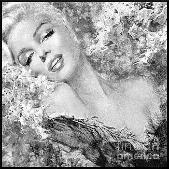 Marilyn Cherry Blossom bw by Theo Danella