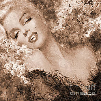 Marilyn Cherry Blossoms, sepia by Theo Danella