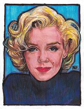 Marilyn In Blue by Neil Feigeles