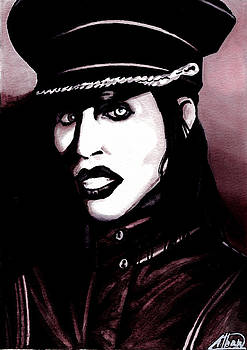 Marilyn Manson Portrait by Alban Dizdari