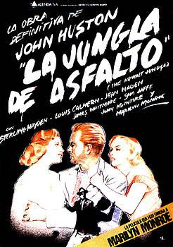 Marilyn Monroe In The Asphalt Jungle Movie Poster in Black by R Muirhead Art