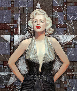 Marilyn Monroe, Old Hollywood, celebrity art, famous woman, brightest blonde  by Julia Khoroshikh