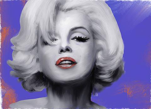 Marilyn Monroe Portrait Study in acrylic by Brian Tones