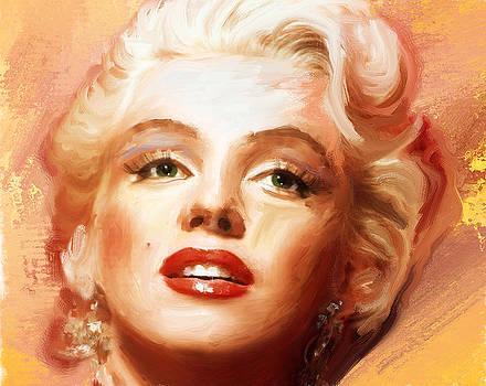 Marilyn Monroe portrait study in oil by Brian Tones