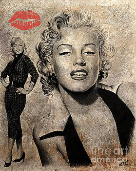 Marilyn Monroe red lips edition by Andrew Read