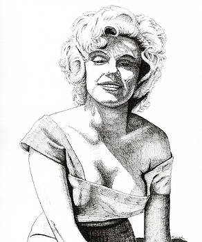 Marilyn Monroe by Timothy Livingston