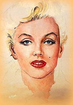 Marilyn seductive warm edit by Andrew Read