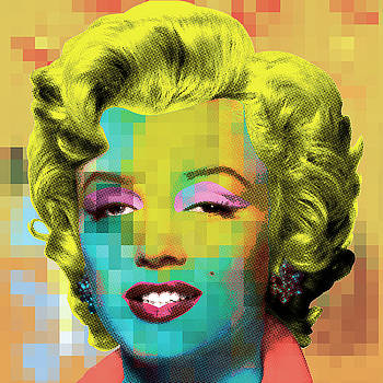 Marilyn With Pattern by Gary Grayson