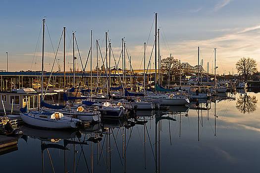 Marina at Sunset by Ron Dubin