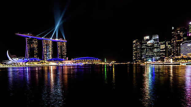 Marina Bay Sands at Night 1 by Giles PichelJuan