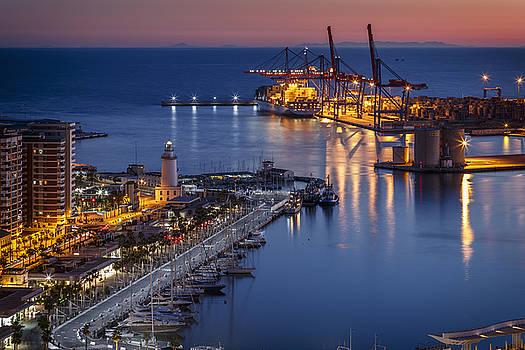 Marina of Malaga by Antonio Violi