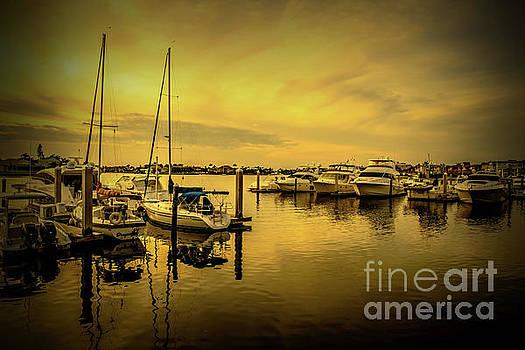 Marina Sunset - 5779c by Debra Kewley