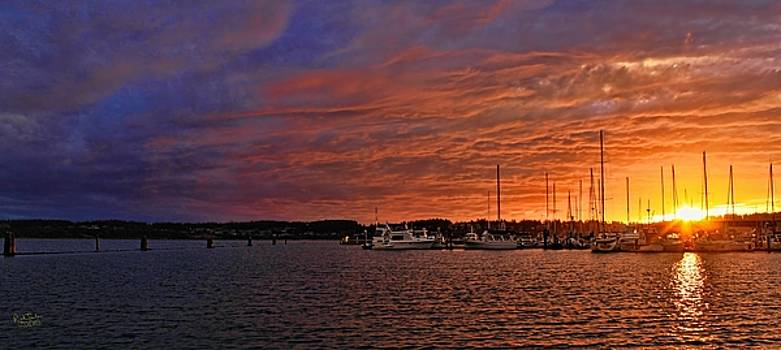 Marina Sunset One by Rick Lawler