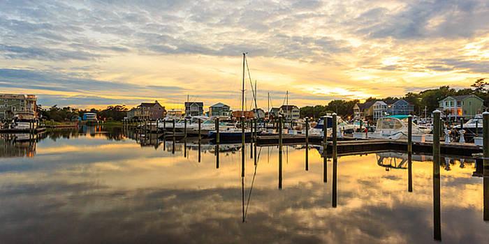Marina Sunset Pano by Nick Noble