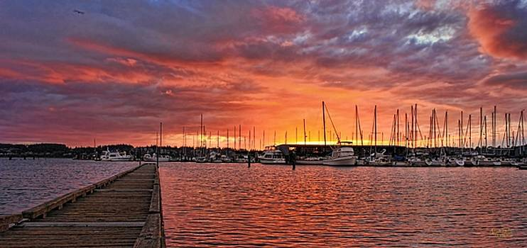Marina Sunset Two by Rick Lawler
