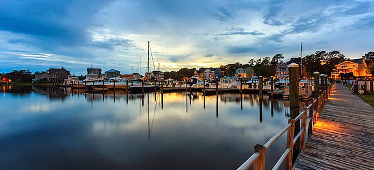 Marina Twilight Panorama by Nick Noble