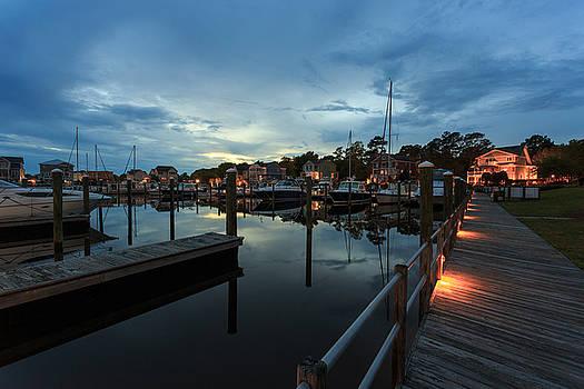 Marina Walkway Twilight by Nick Noble