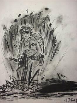 Marine Machine Gunner by John DeRoy