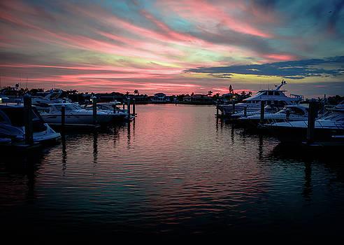 Marina Sunset - 5804a by Debra Kewley