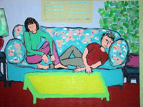 Mark and Me on the Couch by Joyce Goldin