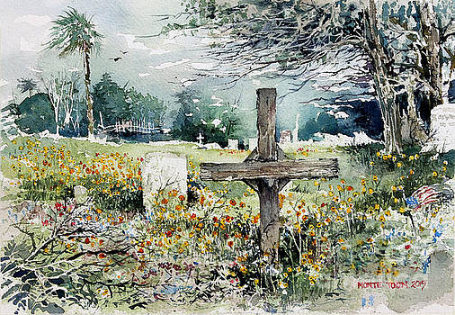 Markers And Flowers In Rockport by Monte Toon