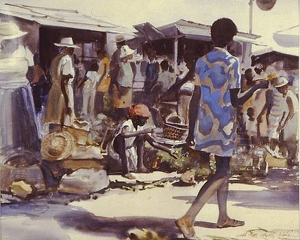 Market Day Downtown by Charles Hawes