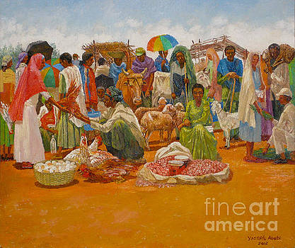 Market for Eve of the Easter by Yoseph Abate