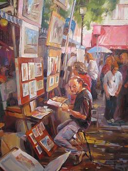 Market in Montmartre by Ekaterina Pozdniakova