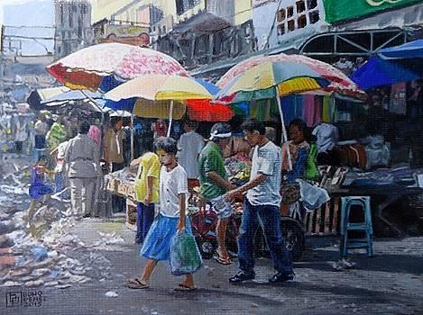 Market Scene by Bong Perez