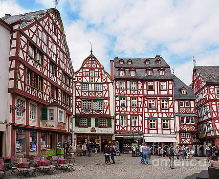Marketplace in Bernkastel Kues Germany by Louise Heusinkveld
