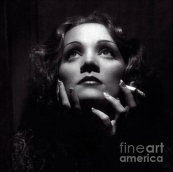 Marlene Dietrich Art  by Doc Braham