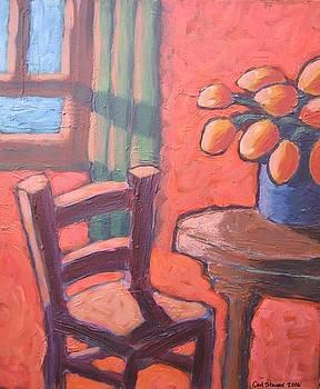 Maron Chair in Orange Room by Carl Stevens