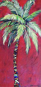 Maroon Palm Tree by Kristen Abrahamson