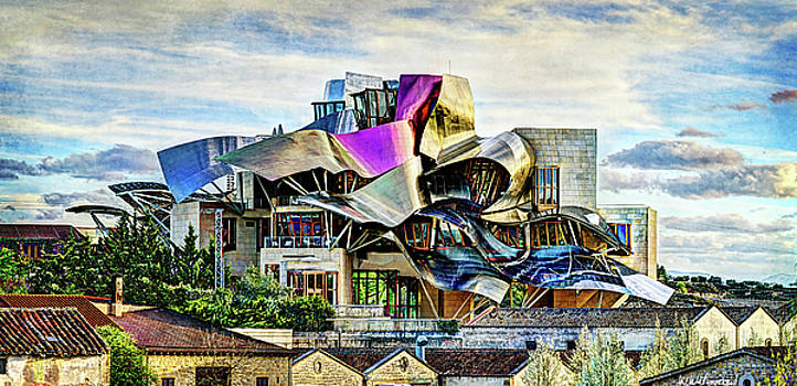Weston Westmoreland - marques de riscal Hotel at sunset - frank gehry - vintage version