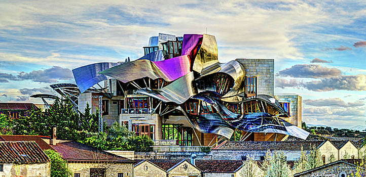 Weston Westmoreland - marques de riscal Hotel at sunset - frank gehry