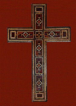 Anne Cameron Cutri - Marquetry Cross
