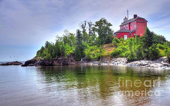 Terri Gostola - Marquette Lighthouse in Marquette Michigan