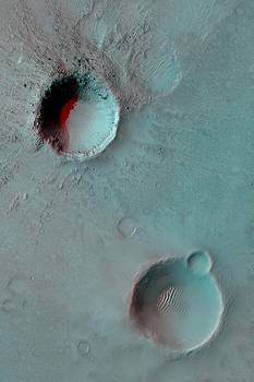 Mars Bakhuysen Crater Anaglyph by Ian Grasshoff